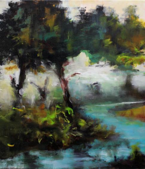 Alexander König | Landschaft | 2016 |Acryl auf Leinwand | 50 x 70 cm | 3200 Euro