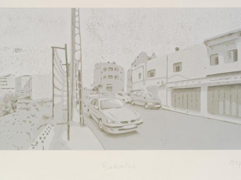 Harald Alff | Ramallah | FHS | 2011 | Papierformat 50 x 70 cm | Grafikformat 31,5 x 60 | 180 Euro
