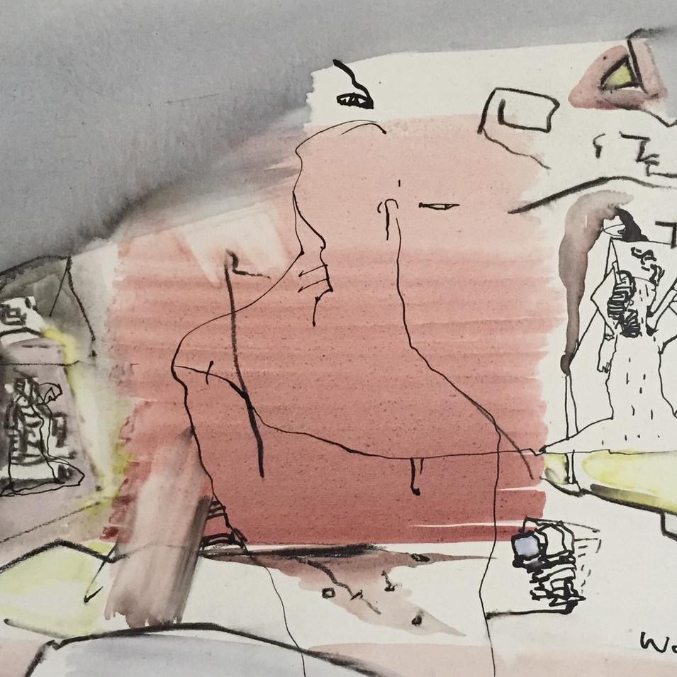 Dagmar Ranft-Schinke   Wer Wo?   2008   Acryl auf Leinwand   40 x 50   950 Euro