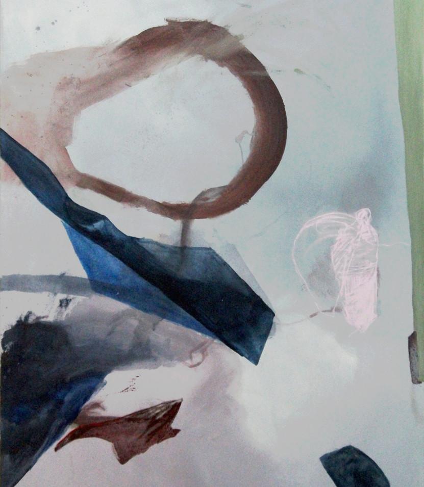 Vivien Nowotsch | Losgelöst | 2014 | Acryl, Pastellkreide auf Leinwand | 160 x 110 cm | 2900 Euro