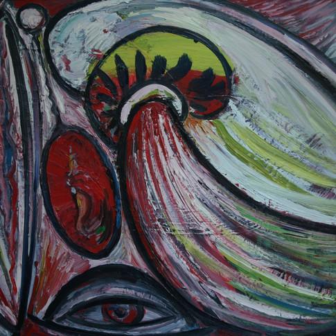Hubertus Giebe | o.T. | 1996 | Ölfarbe auf Leinwand | 59 x 79 cm | 4800 Euro