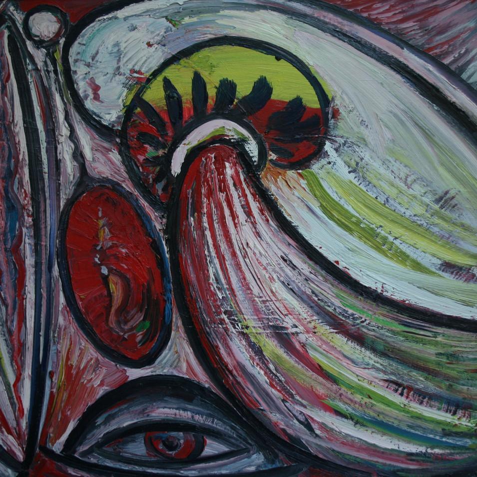 Hubertus Giebe   o.T.   1996   Ölfarbe auf Leinwand   59 x 79 cm   4800 Euro