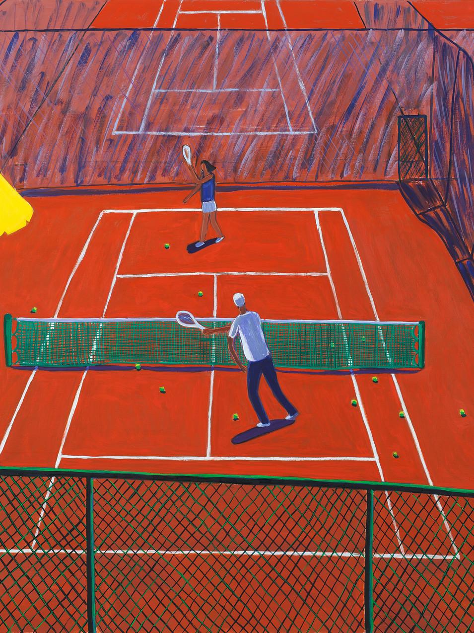 Gudrun Petersdorff | Übungsstunde | 2009 | Öl auf Leinwand | 110 x 100 cm | Foto Christoph Sandig | 4800 Euro