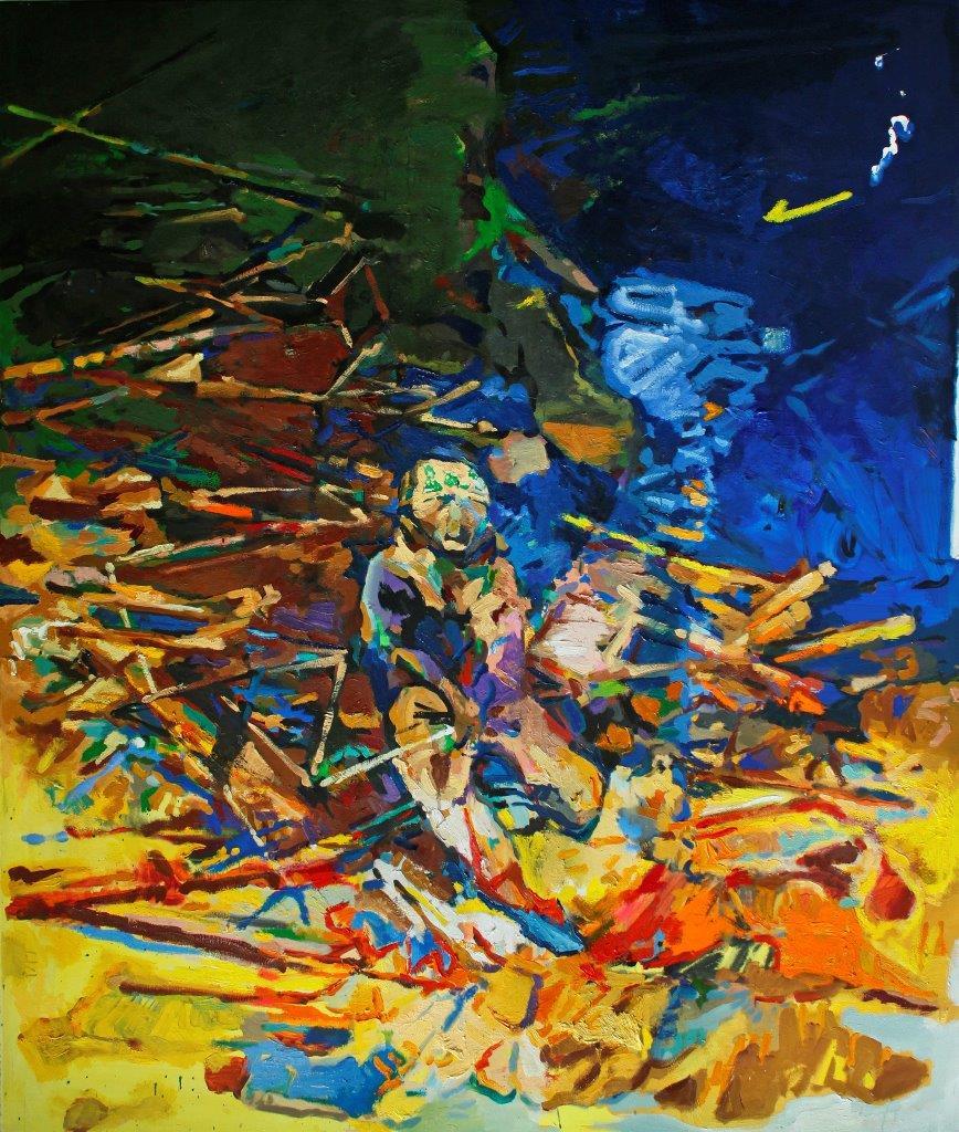 Eckehard Fuchs | Break | 2016 | Öl auf Leinwand | 190 x 160 cm | 5600Euro