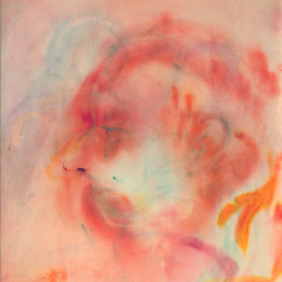 Caroline Scheel | Kohärenz | 2015 | Aquarell auf Seide und grundiertem Mischgewebe 40 x 30 cm | 420 Euro