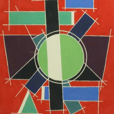 Georg Paul I Auf roten Grund I 1962 I Öl auf Leinen I 60 x 47 cm I 2100 Euro