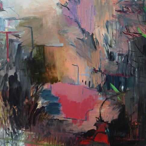 Felix Lippmann | Hinterhof II | 2012 | Öl auf Leinwand |90 x 110 cm | 3000 Euro