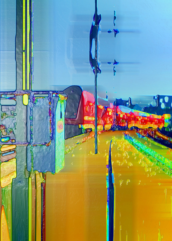 Anna Kasten | S-Bahn Bischoffsplatz | 2020 | Inkjet Karton | 70  x 50 cm | 600 Euro exkl. Rahmen (Vormerkung)