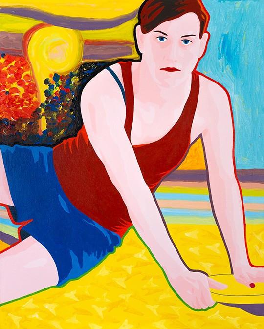 Florian Merkel I Penthesilea I 2019 I acrylic colours on canvas I 100 x 80 cm I 4000 Euro