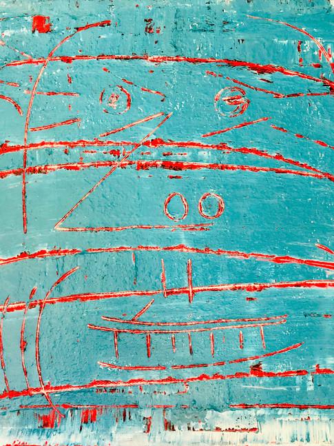 Oliver Kossack | Face in the Wall | 2018 | Öl auf Leinwand | 40 x 50 cm | 2000 Euro