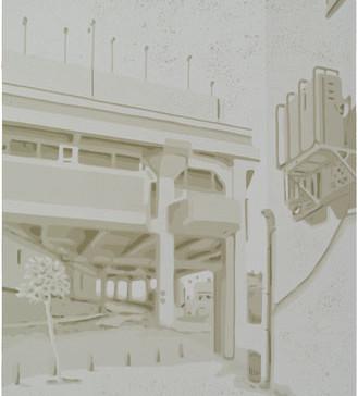 Harald Alff | Tel Aviv 6 | Farbholzschnitt | 2013 | Papierformat 60 x 42 cm | Grafikformat 48 x 32 cm | 170 Euro
