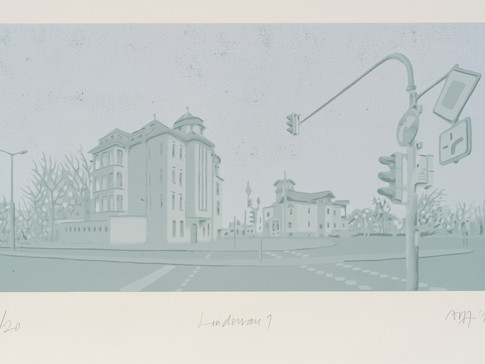 Harald Alff | Lindenau 1 | FHS auf MDF | 2012 | Grafikformat 31,5 x 60 cm | 220 Euro