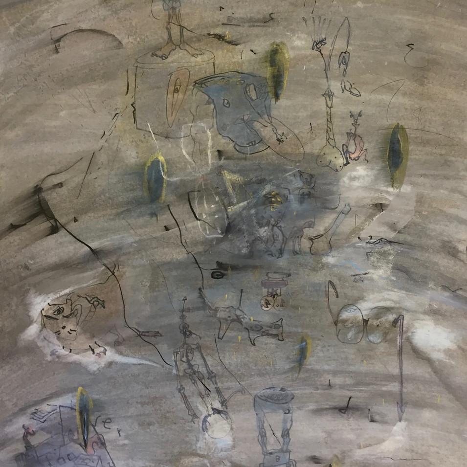 Dagmar Ranft-Schinke   Objekte der Begierde   1993   Mischtechnik, Aquarell, Acryl, Bleistift, Tusche   75 x 55 cm   1600 Euro