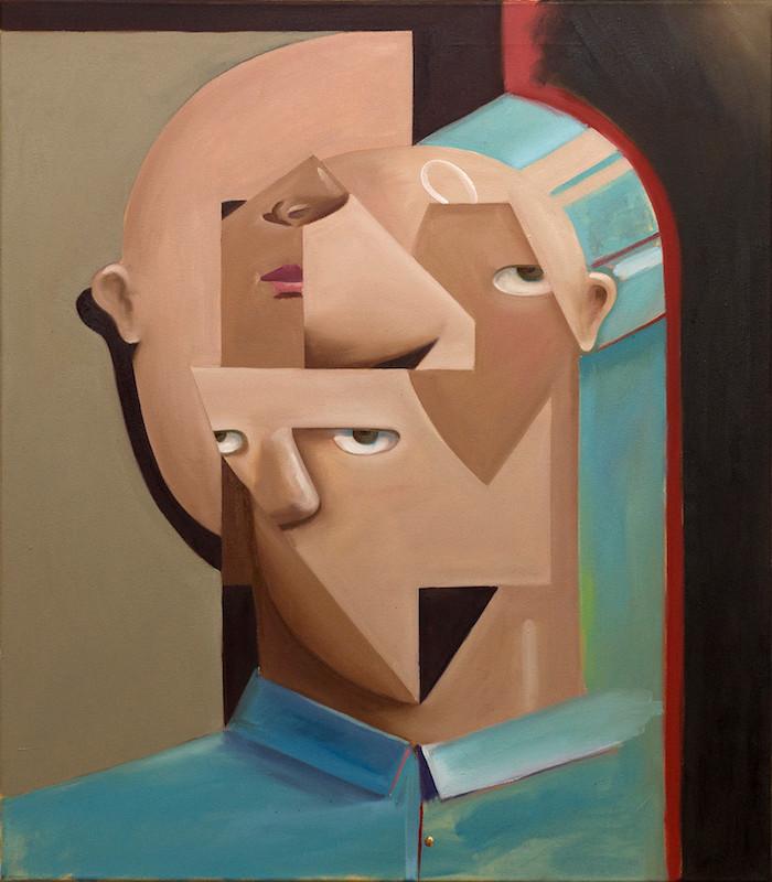 Philipp Weber | Congruenz | 2017 | Acryl auf Leinwand | 65 x 55 cm | 1300 Euro