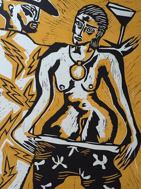 Klaus Süß   Akt I   2002   Mappe Akten   Farbholzschnitt   5/8   70 x 50 cm  Mappe komplett 1600 Euro