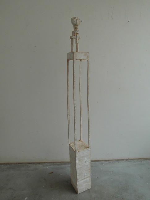 Klaus Hack | Hochsitz | 2003-2004 | Holz | weiß gefasst | 162 x 15,5 x 17 cm | 2500 Euro