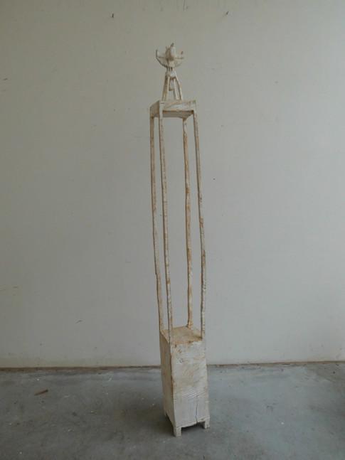 Klaus Hack | Vogel | 2002 | Holz | weiß gefasst | 144,5 x 15 x 14,5 cm | 2400 Euro