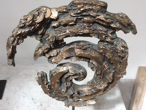 Jochen Schamal | Wirbel groß | Bronze | 2013 | h - 51 cm | 1000 Euro
