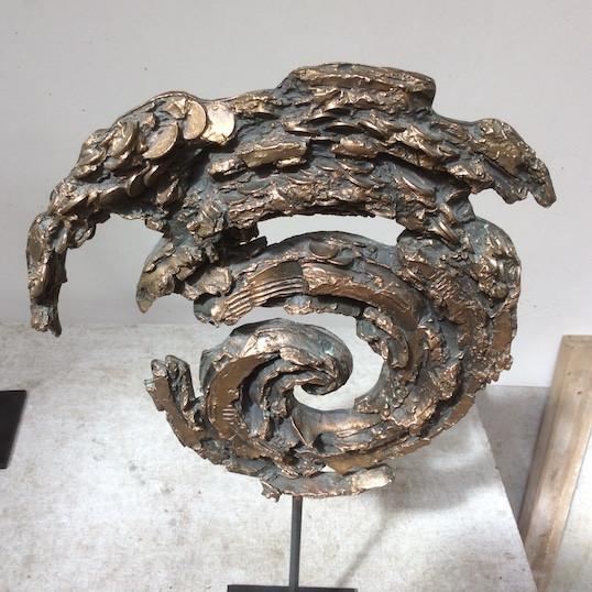 Jochen Schamal   Wirbel groß   Bronze   2013   h - 51 cm   1000 Euro