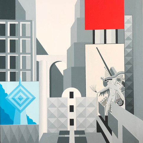 Harald Gallasch | Rot und Blau | 2005 | Acryl auf Leinwand | 70 x 80 cm | 2900 Euro