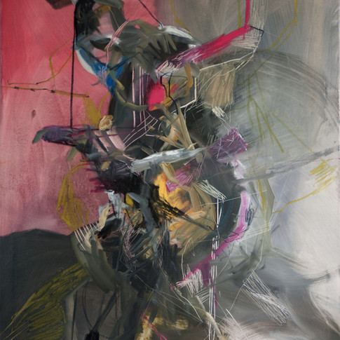 Vivien Nowotsch | Flüchtender | 2011 | Öl, Pastellkreide auf Leinwand | 100 x 80 cm | 1930 Euro