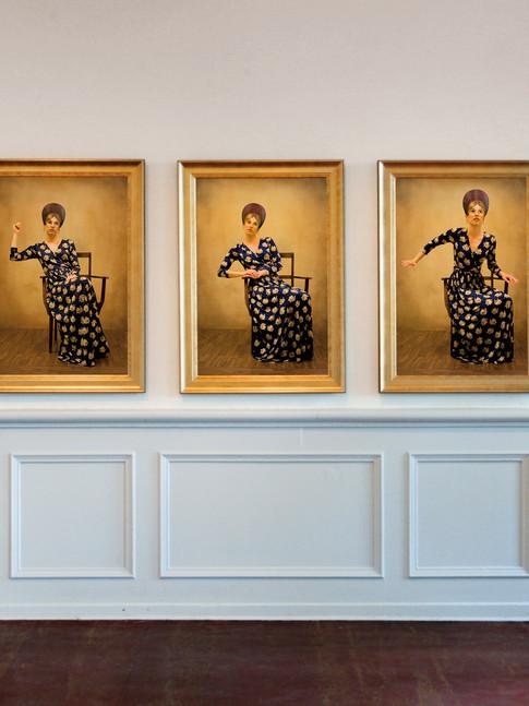 Anna Herrgott | THE TABLE | Ausstellungsansicht | 100 cm x 70 cm m.R.
