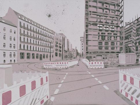 Harald Alff | Berlin 2 | Farbholzschnitt | 2013 | Papierformat 50 x 70 cm | Grafikformat 31,5 x 59,5 cm | 200 Euro
