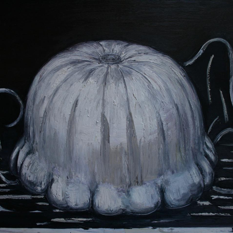 Hubertus Giebe | Weißer Kürbis | 2000 | Ölfarbe auf Leinwand | 70 x 90 cm | 5600 Euro