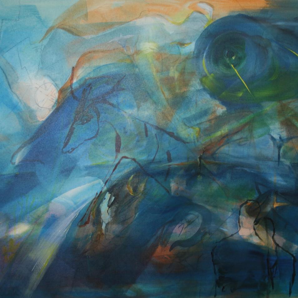 Dagmar Ranft-Schinke   Der Traum des Archimedes   2000   Mischtechnik, Collage, Aquarell, Tusche 23,5 x 31 cm   380 Euro