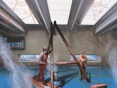 Axel Teichmann | Die Experten | 2009 | Acryl auf Leinwand | 120 x 100 cm | 6600 Euro