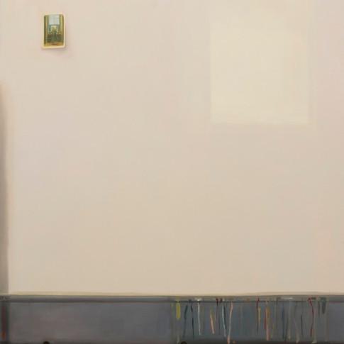 Melanie Kramer | Frau am Fenster | 2013 | Öl auf Leinwand | 150 x 120 cm | 2950 Euro