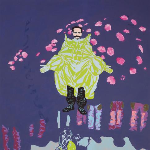 Pierre Fischer | parachute |2010 | Öl, Acryl und Lack auf Leinwand | 180 x 140 cm | 6900 Euro