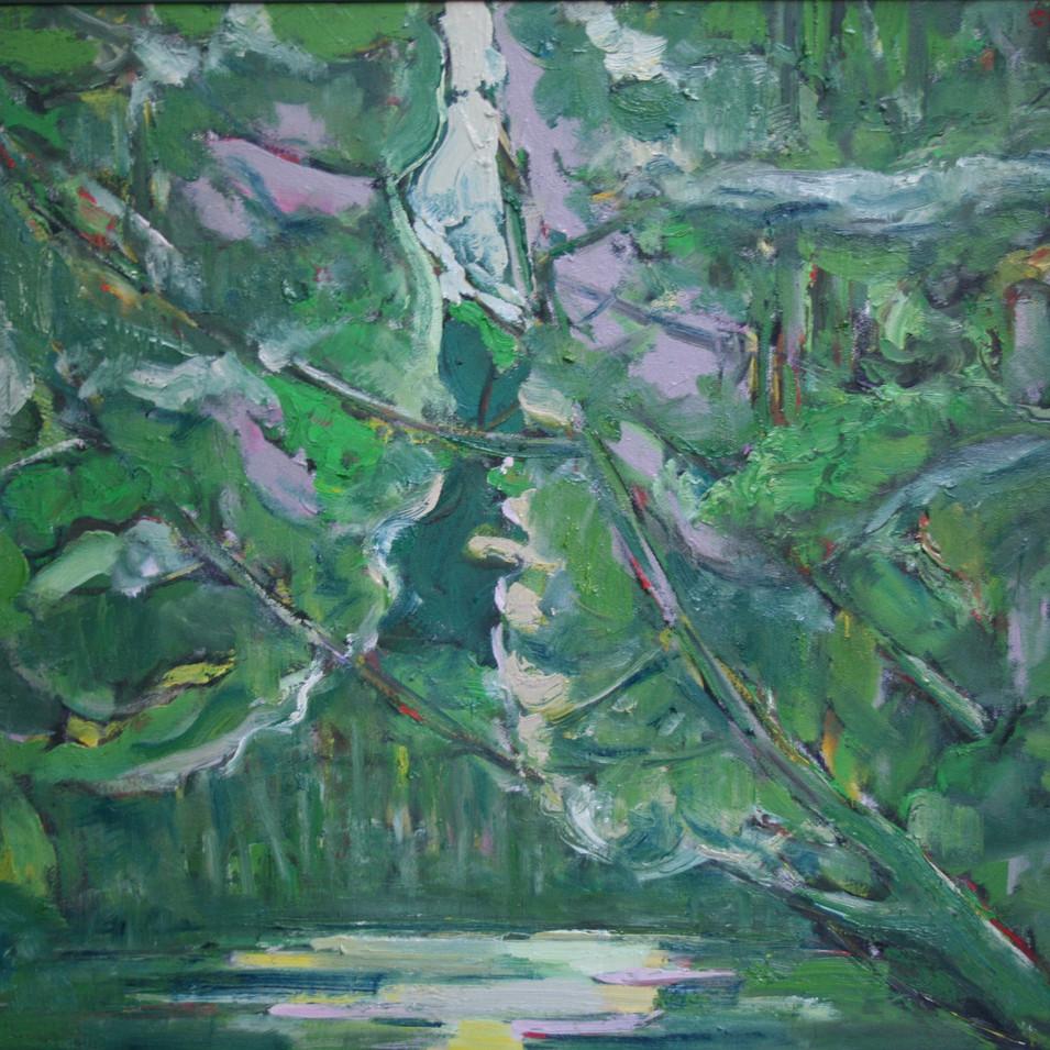 Hubertus Giebe   Sommergarten   2012   Ölfarbe auf Leinwand   60 x 60 cm   4200 Euro