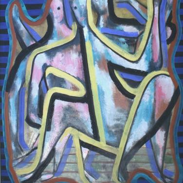 Georg Paul I Drei Tänzer I 1969 I Öl auf Papier I 76 x 66 cm I 2850 Euro