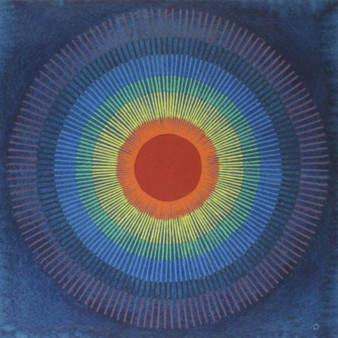 Georg Paul I Sphärische Komposition I 1974 I Aquarell und Tempera I 27 x 27 cm I 1100 Euro