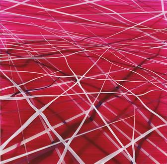 Achim Zeman | Laylines (06) | Acrylglas | 30 x 30 cm | 1200 Euro