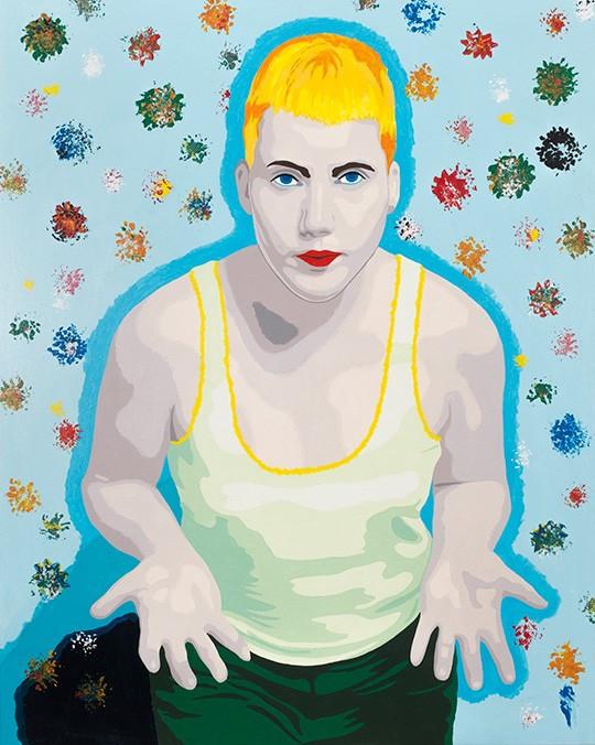 Florian Merkel I Patroklos I 2019 I acrylic colours on canvas I 100 x 80 cm I 4000 Euro