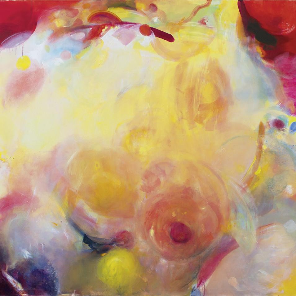 Caroline Scheel | Wach auf und sieh, höre! | 2015 | Öl auf Leinwand | 185,6 x 204 cm | 2350 Euro