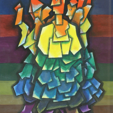 Georg Paul I 3 Gestalten I 1976 I Öl und Tempera I 53 x 37 cm I 2000 Euro