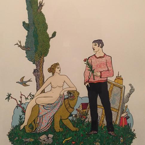 Moritz Götze | Vom Wesen des Künstlers | 2013 | Serigrafie | 70 x 50 cm