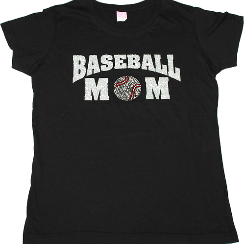 Baseball Mom Bling Tee