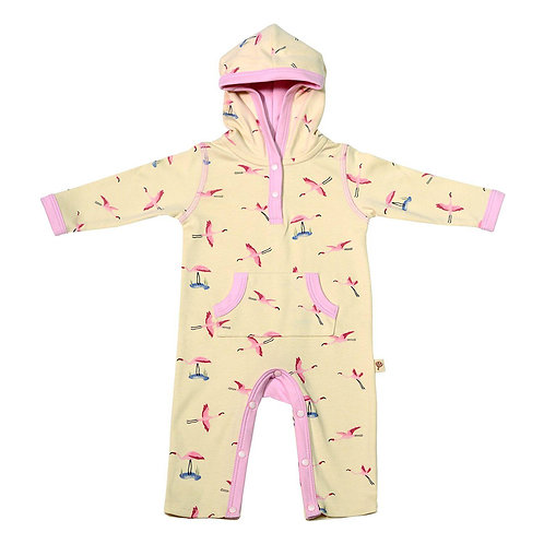 Hoodie Romper Natura Pura Flamingos Art Girls
