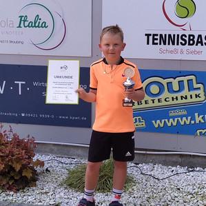 Niederbayrischer Vizemeister Midcourt Tennis für Samuel Obermeier