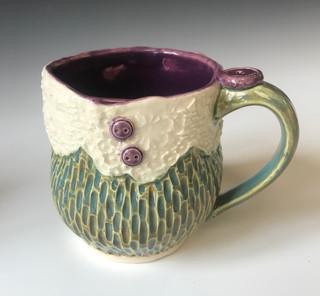 Lace and Button Mug