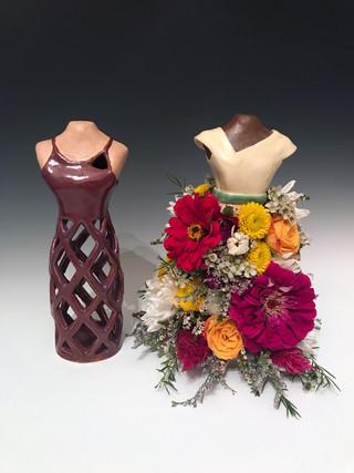 Floral Dressform Vase