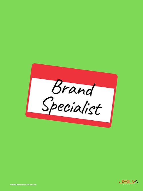 Brand Specialist Poster Green