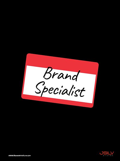 Brand Specialist Poster Black