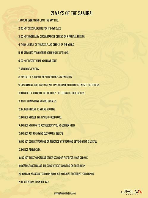 21 Ways of the Samuri poster