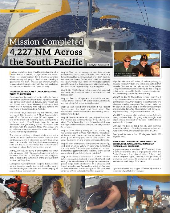 Nov-Jan 2017 - Boat Gold Coast Mag