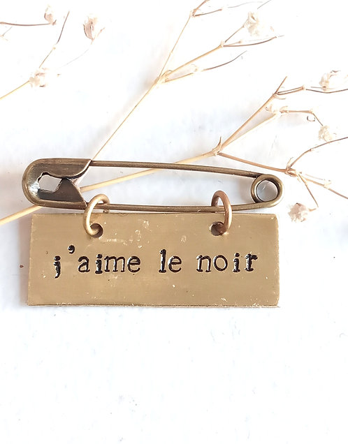 Broche message en laiton Agapi